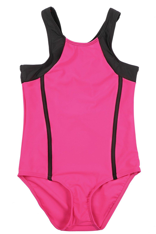 Charmo Girls Sports One Piece Swimming Costume Racerback Swimsuit Swimwear
