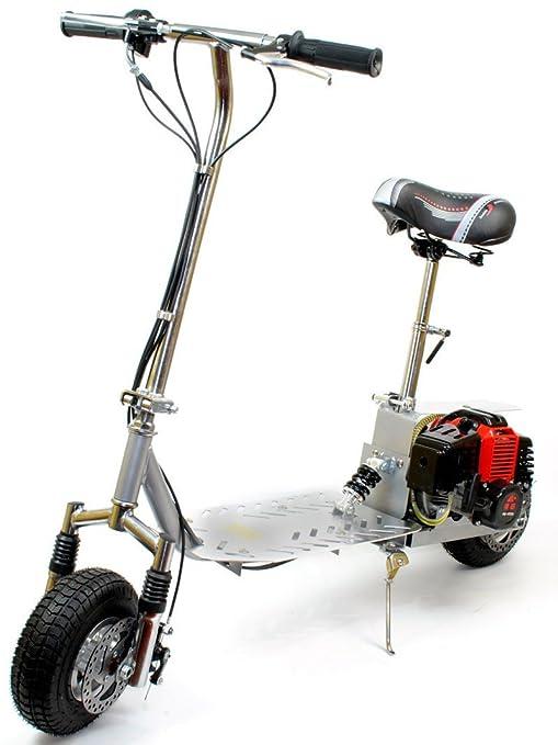 Micro Patinete Económico a Gasolina 49cc Con Suspensión ...