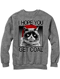 Grumpy Cat Men's Christmas Get Coal Sweatshirt