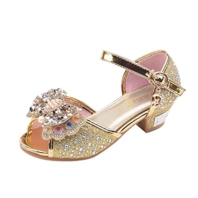 516d4b382c88b Fanybin-Big Sale Girls Baby Girl Crystal Shoes Buckle Bow Pearl ...