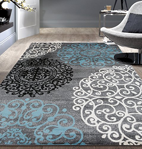 Contemporary Modern Floral Cream 2′ x 3′ Indoor Soft Area Rug