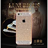 EVERMARKET(TM) Beauty Luxury Hybrid TPU Shiny Sparkling PC Hard Bling Glitter with Crystal Diamond Cover Case for Apple iPhone 6 4.7 Inch - Gold