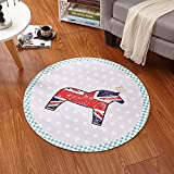 HOMEE Simple round carpet living room coffee table bedroom child bedside blanket swivel chair basket computer chair mat carpet,60 Cm,9
