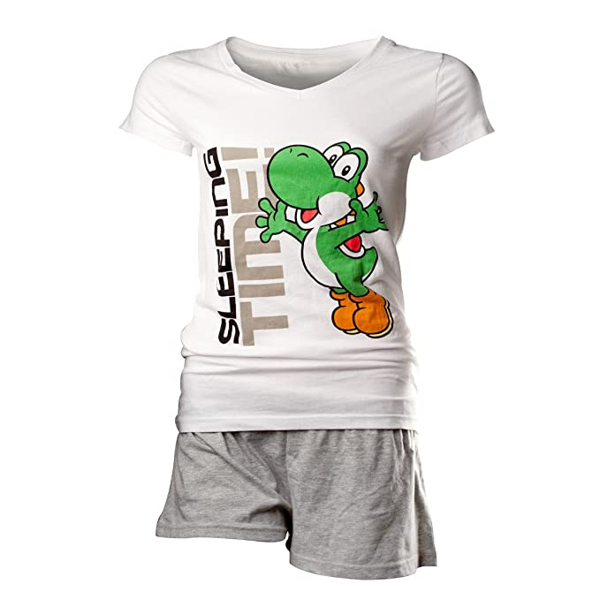 Nintendo Yoshi Sleeping Time Pijama Blanco L