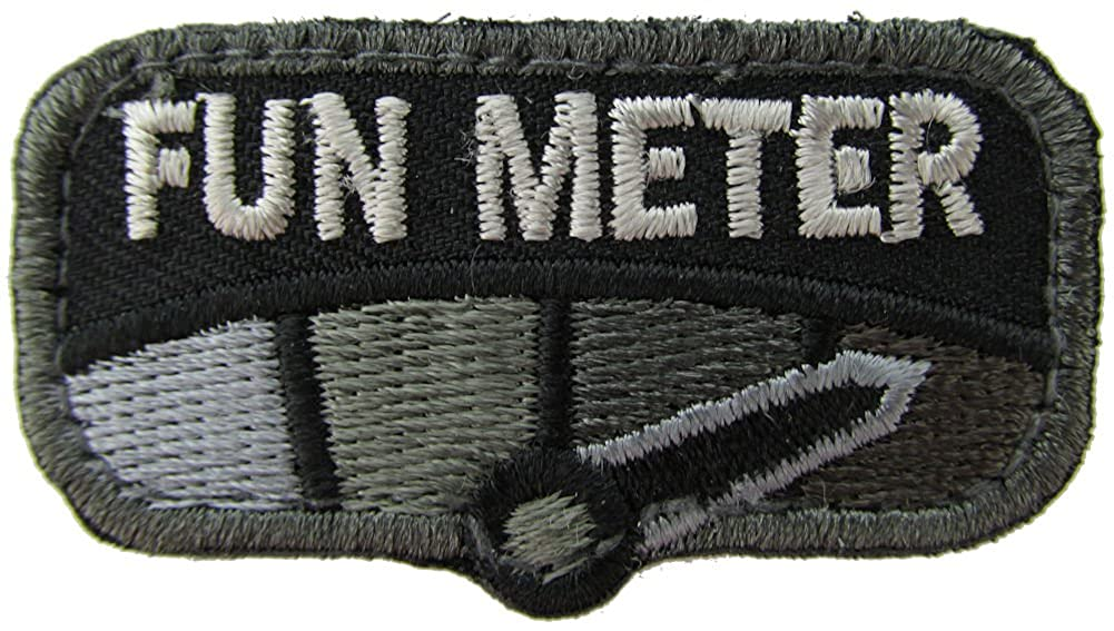 Milspec Monkey Fun Meter Morale Patch (Black)