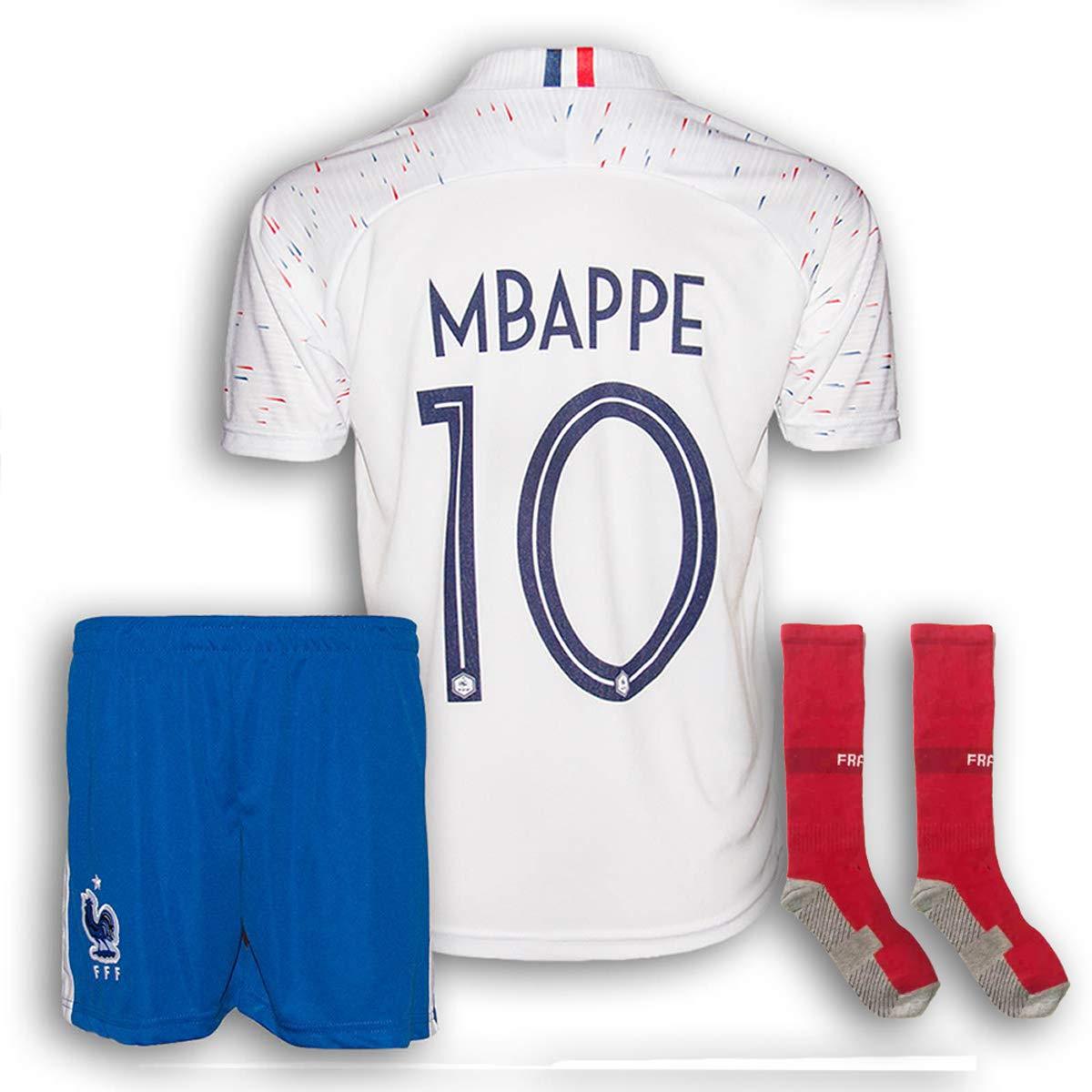 Frankreich Mbappe Trikot Set #10 2018//19 Ausw/ärts Mbappe Kinder Fussball Trikot Mit Shorts