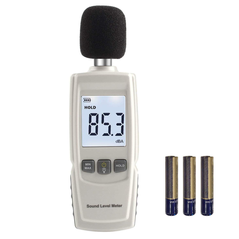 Digital Noise Meter, High-Precision Decibel Tester,Portable Indoor Environment Noise Detector,LCD Backlight/Measuring Data Retention(30~130dBA) by Jomia