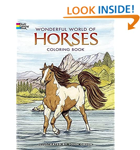 Dover Publications Wonderful World Of Horses Coloring Book Nature