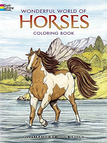 Dover Publications-Wonderful World Of Horses Coloring Book (Dover Nature Coloring (Bright Chipboard)