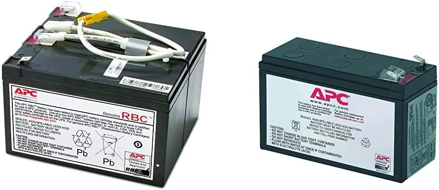 APC UPS Battery Replacement, APCRBC109, for APC UPS Models BR1500LCD and Select Others & UPS Battery Replacement RBC17 for APC Models BE650G1, BE750G, BR700G, BE850M2, BE850G2 and Select Others
