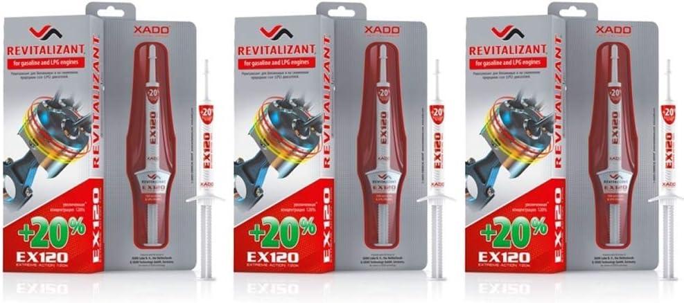 Xado Set Für Motorverschleißschutz 3x Ex120 Revitalizant Motor Benzin Lpg Auto