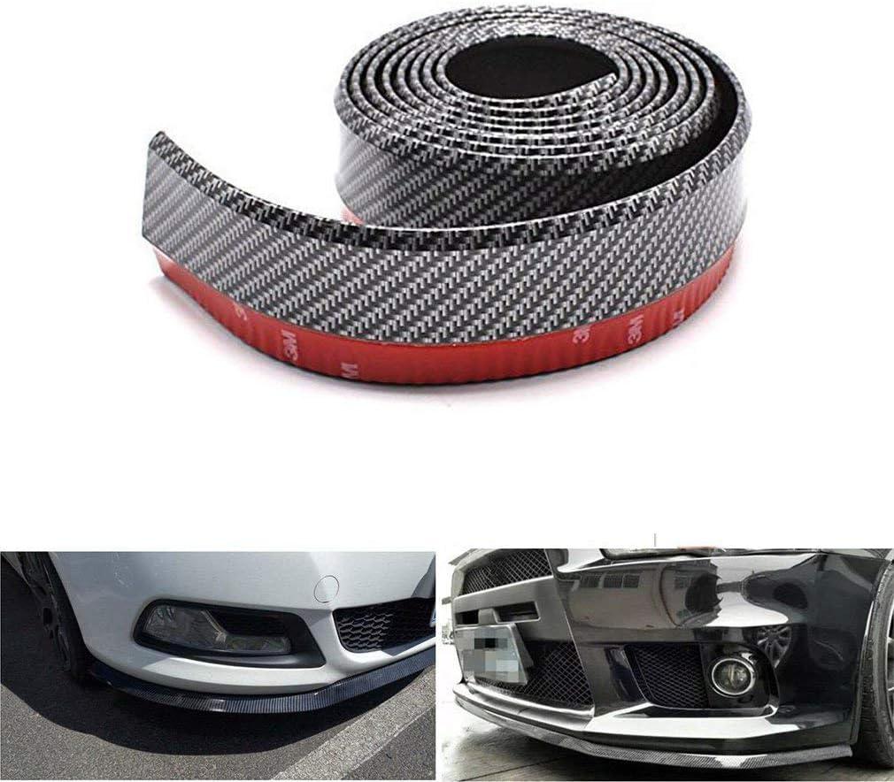 2.5M//8.2 ft Universal Car Front Bumper Spoiler Rubber Sticker Lip Splitter Body Skirt Protector