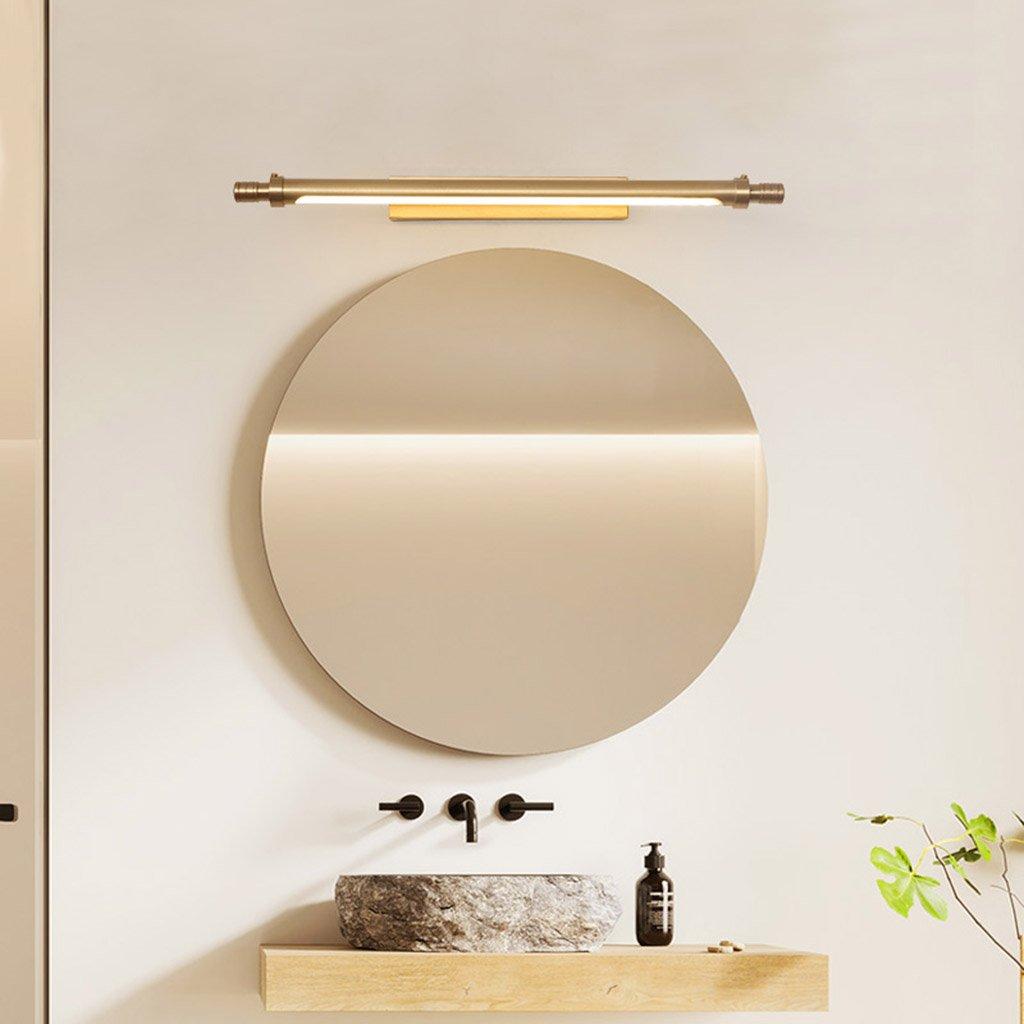 & Spiegellampen Europäische Spiegel Lampe, LED Badezimmer Licht Badezimmer Lampe American Copper Wandleuchte Einfache moderne Beleuchtung Badezimmerbeleuchtung (Farbe   weißes Licht-54  12cm)