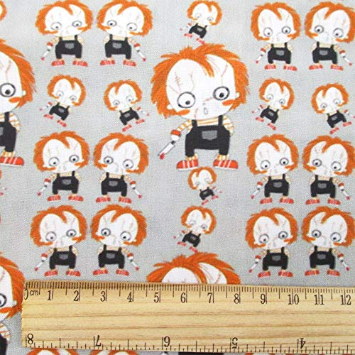 Fabric African|50145CM Halloween Polyester Cotton Fabric Holiday Christmas Skull Ghost Rabbit for Sewing Tilda Dollc2732 |by -