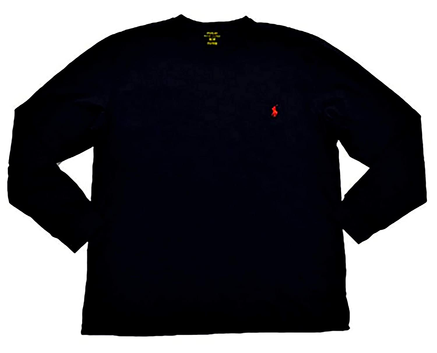 RALPH LAUREN Polo Men Long Sleeve Pony Logo T-Shirt (Medium, Black ...