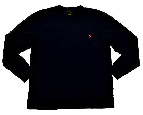 RALPH LAUREN Polo Men Long Sleeve Pony Logo T-Shirt (Medium, Black ...