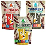Plato Thinkers 3-Piece Variety Pack - 1-Chicken, 1-Salmon, and 1-Duck Dog Treats (Each Bag 22oz)