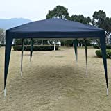 Blue 10'X20' EZ POP UP Gazebo Wedding Party Tent Folding Canopy Carry Bag Cross-Ba