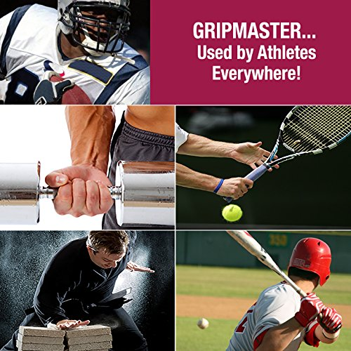 GRIP MASTER Gripmaster 14003-BLK Hand Exerciser Black, Heavy Tension (9-Pounds per Finger) by GRIP MASTER (Image #6)