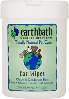 product image for Earthbath All Natural Specialty Ear Wipes (6 Pack), 25 Wipes