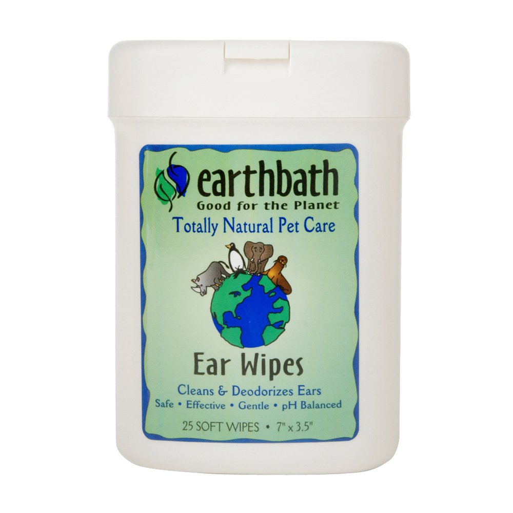 Earthbath All Natural Specialty Ear Wipes (6 Pack), 25 Wipes