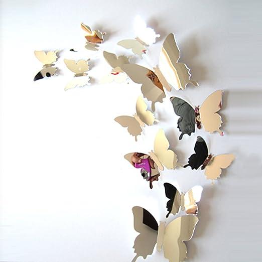 133 opinioni per ufengke® 12 Pezzi 3D Farfalle Adesivi Murali Fashion Design DIY Farfalla Arte