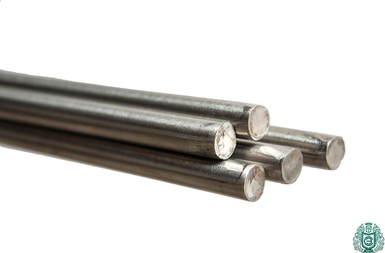 Edelstahl Kapillarrohr VA V2A 1.4301 aisi 304 Dünnwandig rund 5-12mm /<0.33 Meter