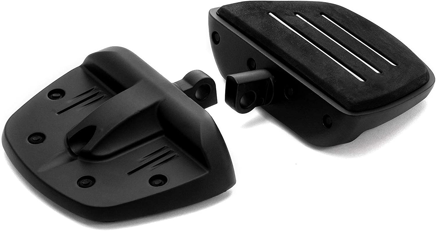 Road King Krator Black Mini Board Floorboards Footpegs for Harley-Davidson Motorcycles Compatible with Sportster Softail Dyna Street Glide