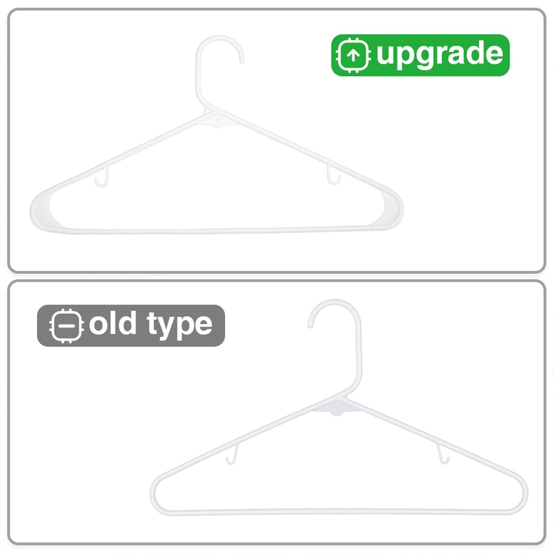 HOUSE DAY 60PACK Black Plastic Tubular Adult Hangers 16.5 Inch Light-Weight Plastic Hanger 60pcs Black