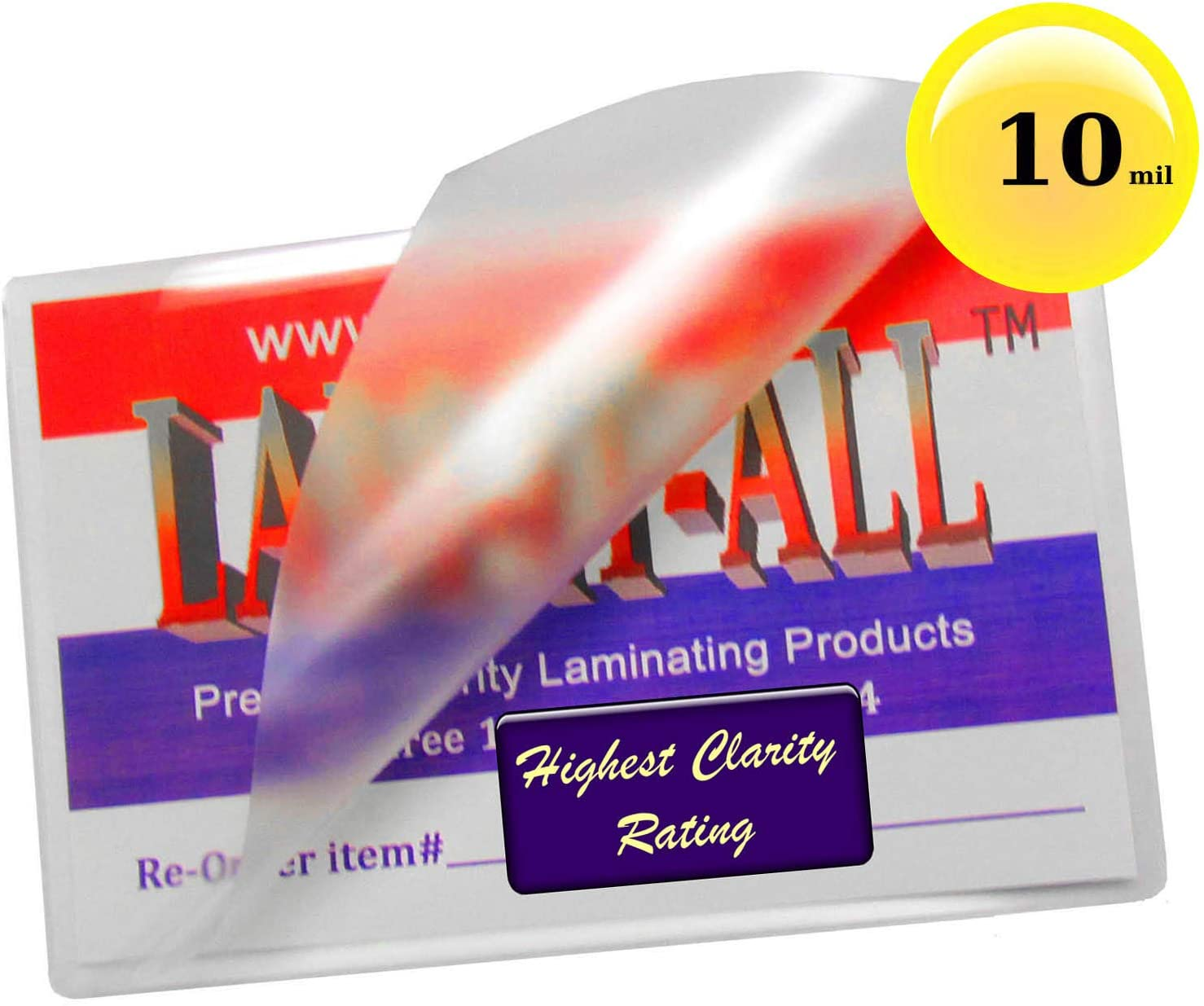500 Hot 10 Mil File Card Laminating Pouches 3-1//2 x 5-1//2 Clear 3.5x5.5