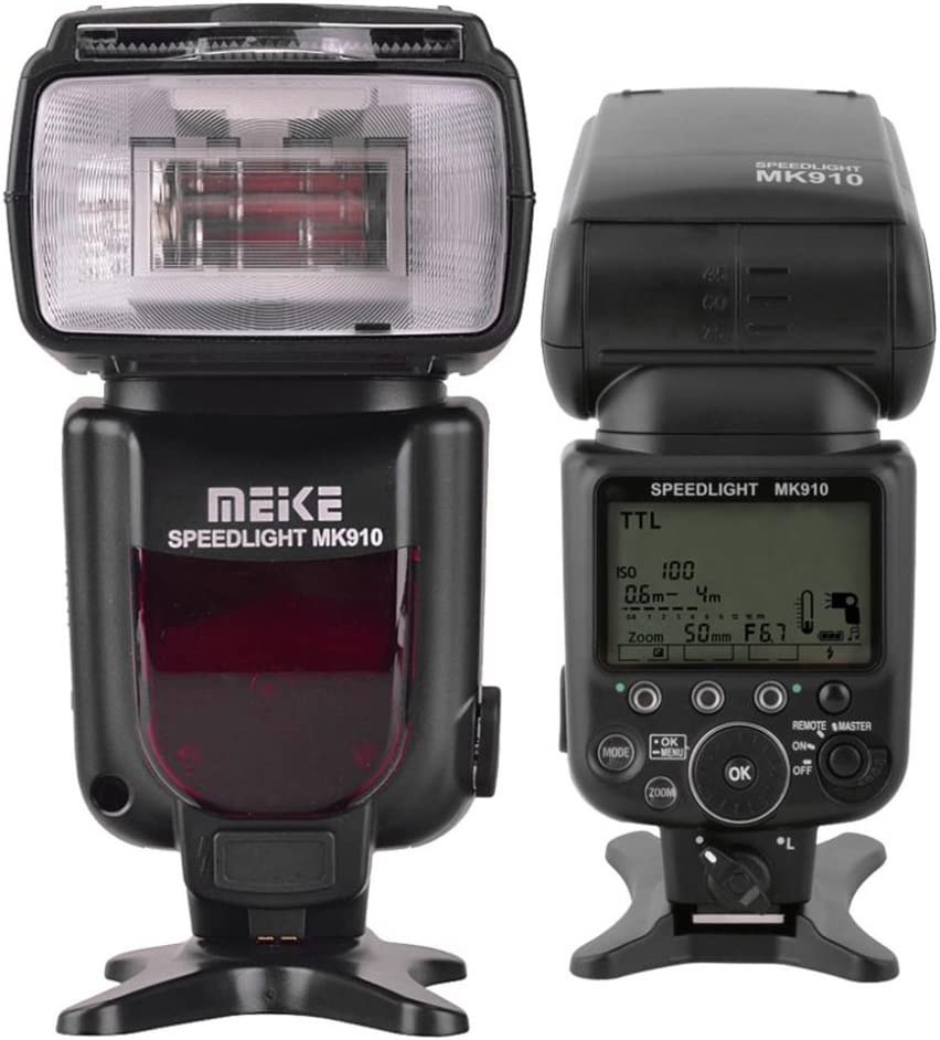 Meike Wirless Flash Speedlite HSS 1/8000s i-TTL LCD Display Master ...
