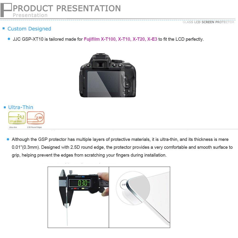 Jjc Ultra Thin Lcd Optical Glass Screen Protector For Guard Fujifilm Xt10 Camera Photo