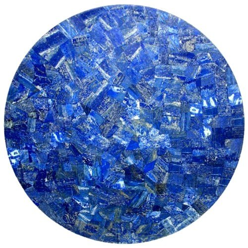 rkhandicrafts Sofa Table Top Home Furniture 18'' Diameter Lapis Lazuli Random Marble Inlay Mosiac Art 18' Round End Table