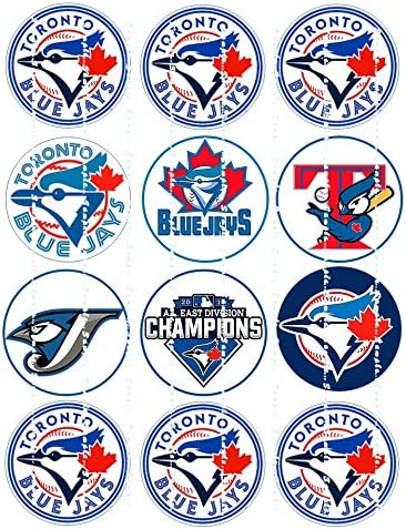 BLUE JAYS LOGOS Edible image birthday cupcake toppers premium frosting sheets