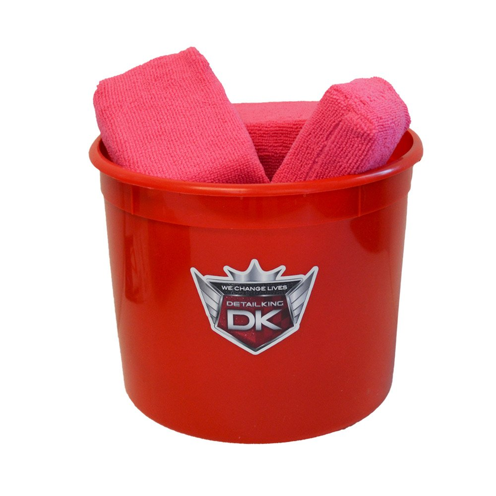 Detail King Bucket of Microfiber Wax Applicators (8)