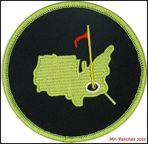 AUGUSTA GOLF MASTERS Green & Black Embroidery Patch for Golf Shirts Hats Jackets Bags Easy Iron On