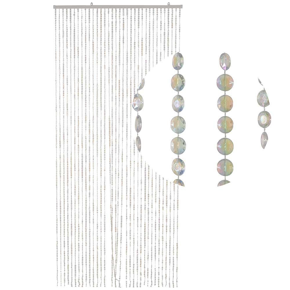 Hab & Gut (DV0355 door curtain Design: DIAMONDS, Colour: CLEAR, Material: plastic, Size: 90 x 200 cm / 35,4 x 78,7 inches
