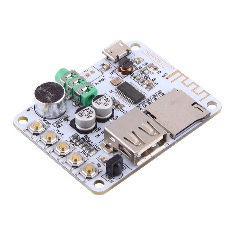 Bluetooth Audio Receiver Board + Remote Control Alinory Nouveau R/écepteur Audio Bluetooth Microphone Amplificateur USB TF FM MP3 D/écodeur WMA WAV FLAC Lecteur Amplificateur Carte