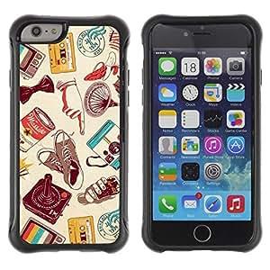 LASTONE PHONE CASE / Suave Silicona Caso Carcasa de Caucho Funda para Apple Iphone 6 PLUS 5.5 / modern art cassette retro technology