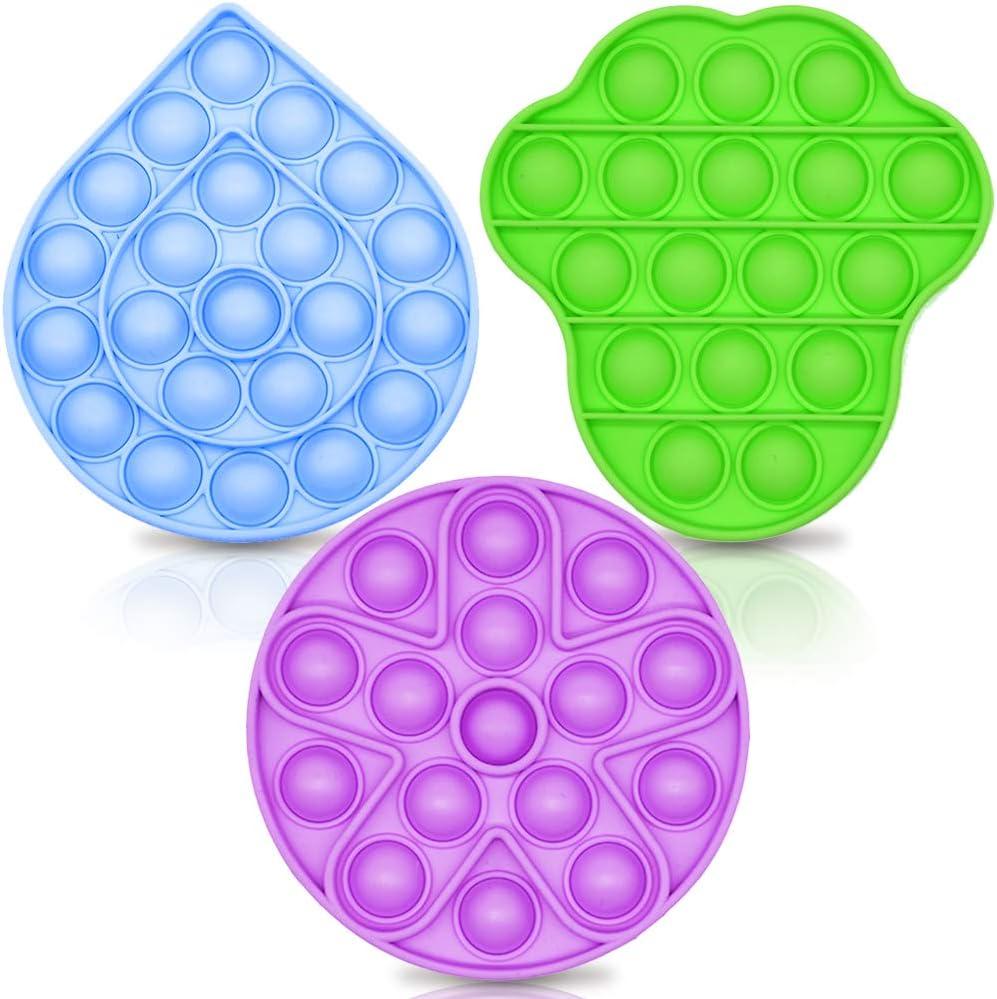 60% Off Coupon – 3 Pieces Push Pop pop Bubble Fidget Sensory Toys