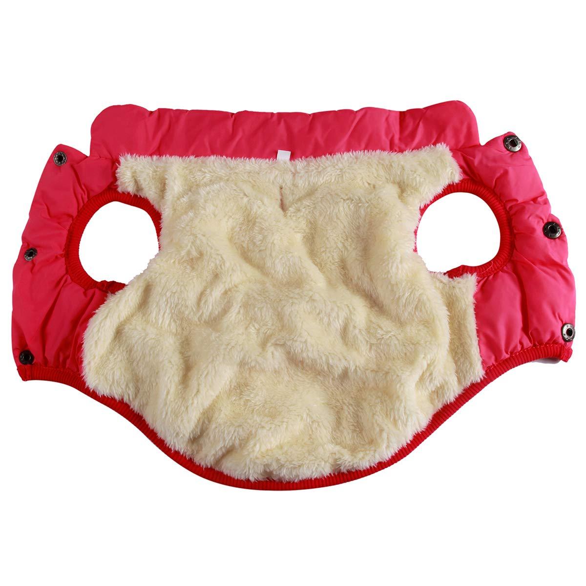 color rojo Chaleco abrigo para perro Joydaog 2/capas, con forro polar