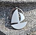 Sailing Boat Keychain