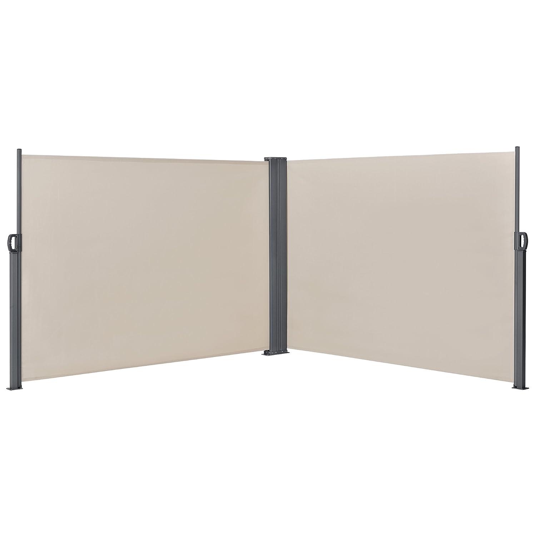 Seitenmarkise 180x300cm Beige Sichtschutz Markise Sonnen Windschutz