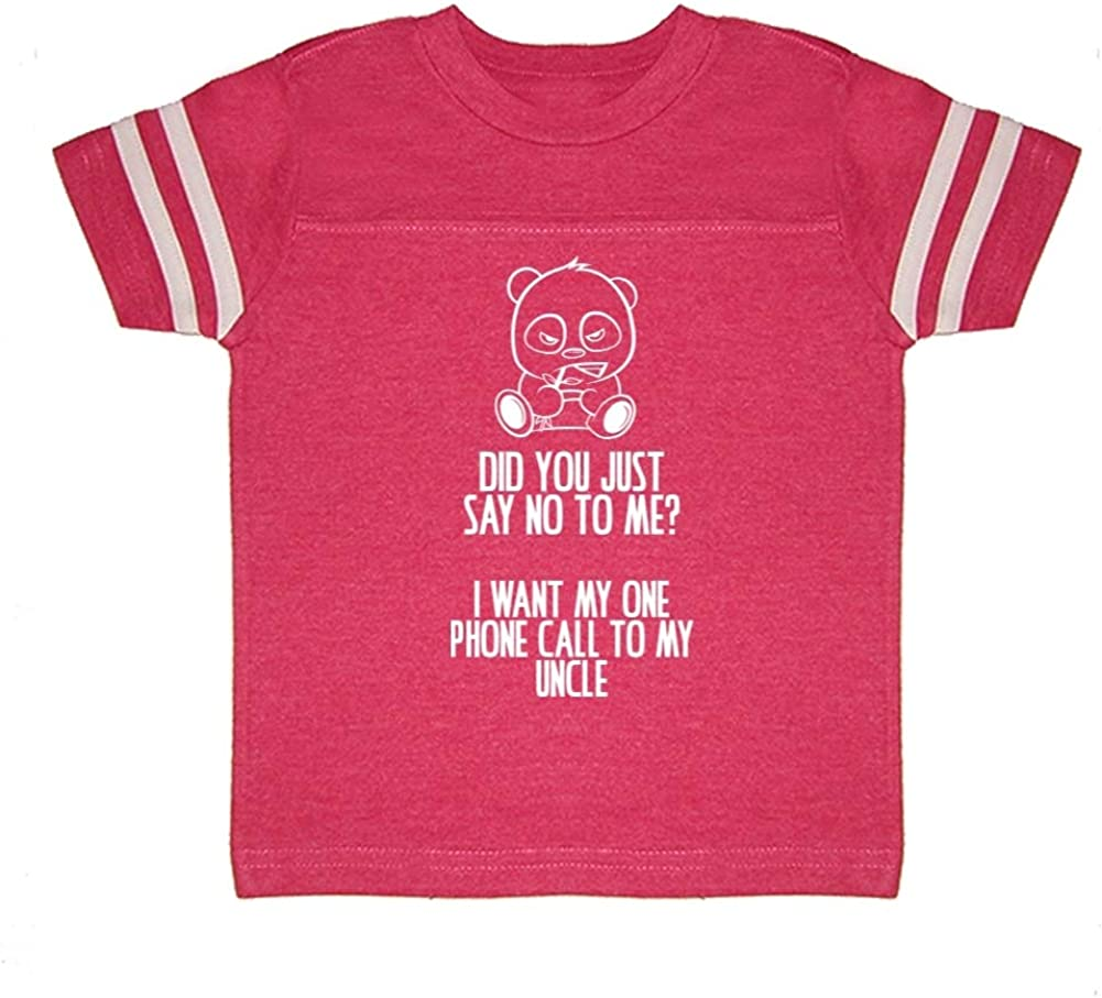 Toddler//Kids Sporty T-Shirt I Want My One Call to My Uncle No