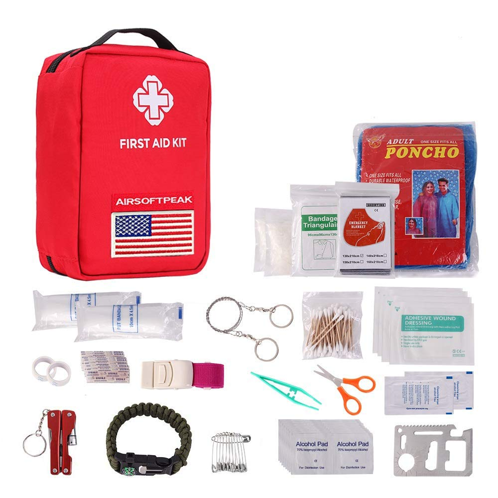 AIRSOFTPEAK First Aid Kit Upgraded Emergency Kit Supplies First Aid Essentials Kits Molle First Aid Bag for Car, Home, Survival, Camping, Hiking, Travel by AIRSOFTPEAK