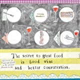 Ideal Home Range 20-Count Boston International 3-Ply Paper Cocktail Napkins, Curly Girl Design Better Conversation