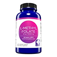 MD. Life L-Methylfolate 15 mg Active Folate 5 mthfr support supplement - Professional Strength Methyl Folate - Essential Amino Acids & Brain Supplement- Vegan 90 Purple Carrot Capsules
