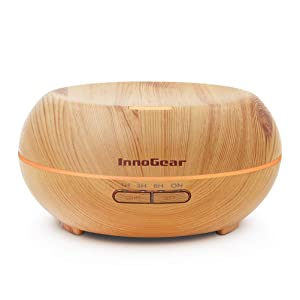InnoGear Wood Grain Ultrasonic Oil Diffuser