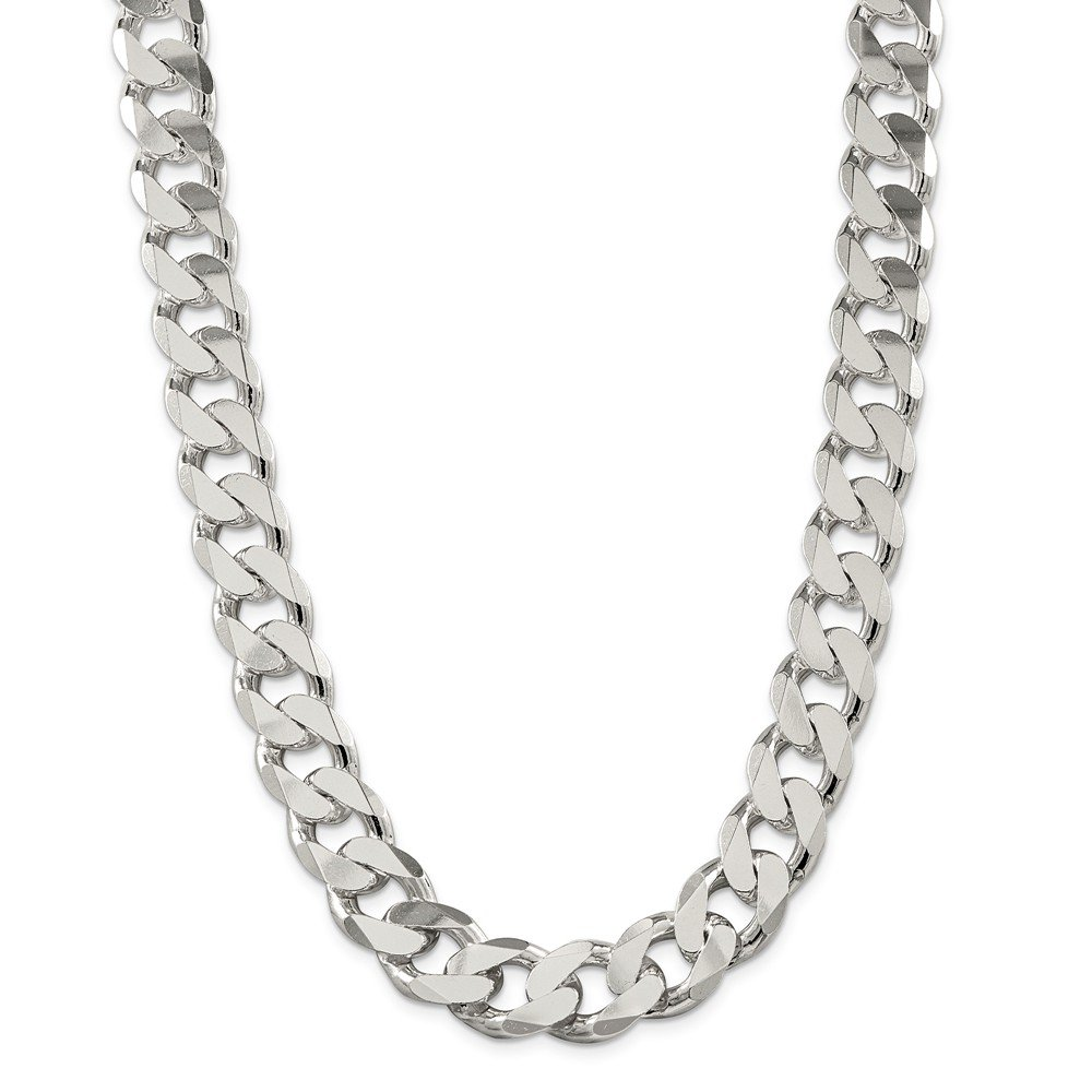 Sterling Silver 16.2mm Curb Chain by Diamond2Deal (Image #1)