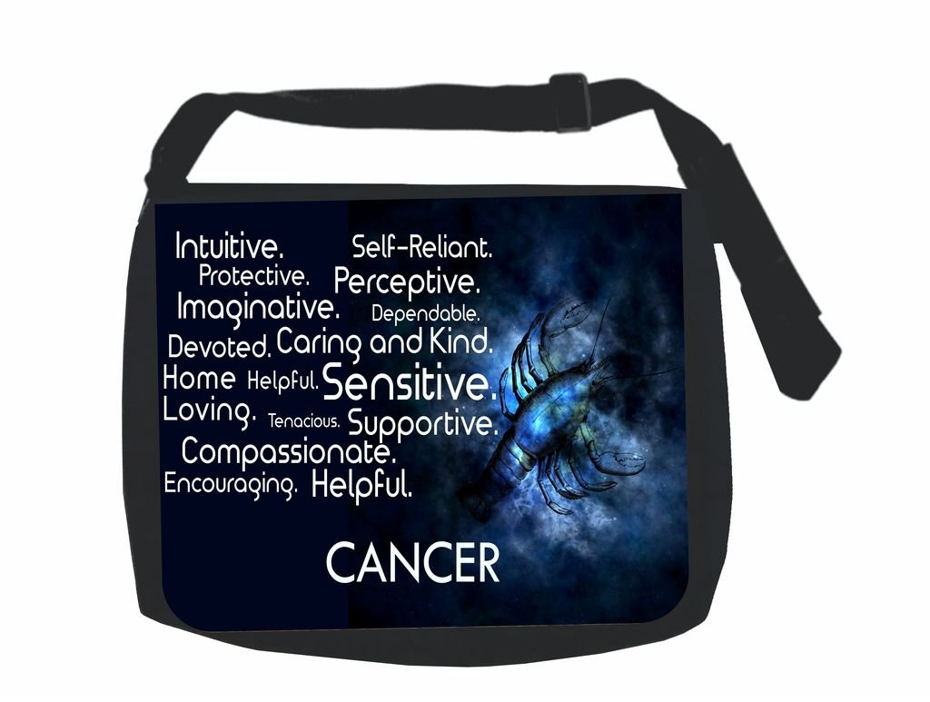 School Messenger Bag and Pencil Case Set Zodiac Cancer Traits Jacks Outlet Inc